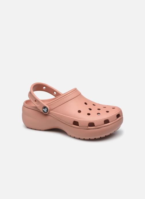 Clogs & Pantoletten Crocs Classic Platform Clog W rosa detaillierte ansicht/modell