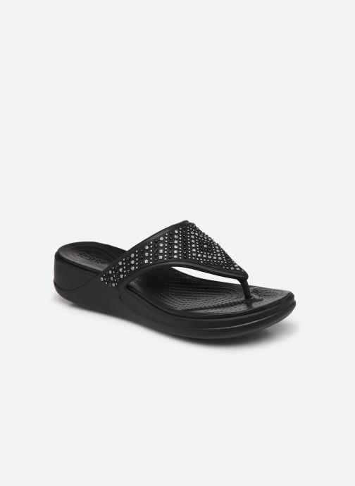 Zehensandalen Crocs Crocs Monterey Shimmer WgFpW schwarz detaillierte ansicht/modell