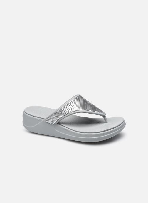 Slippers Crocs Crocs Monterey Metallic WgFpW Zilver detail