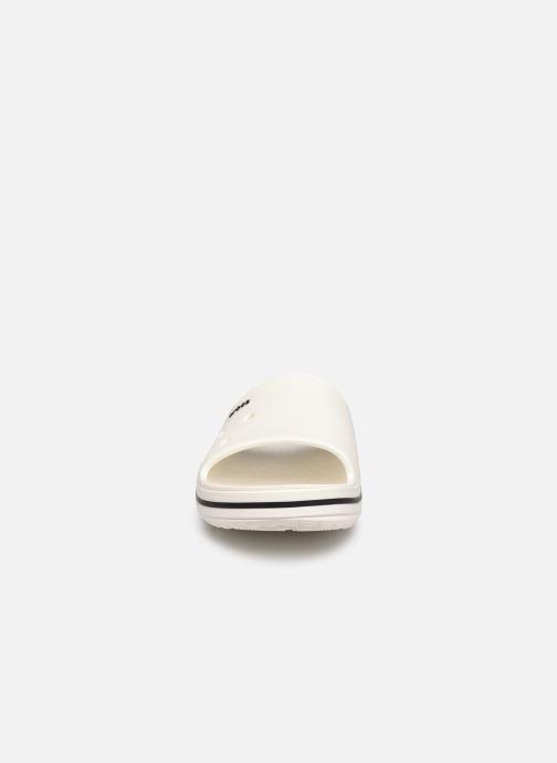 Sandalen Crocs Crocband III Slide weiß schuhe getragen
