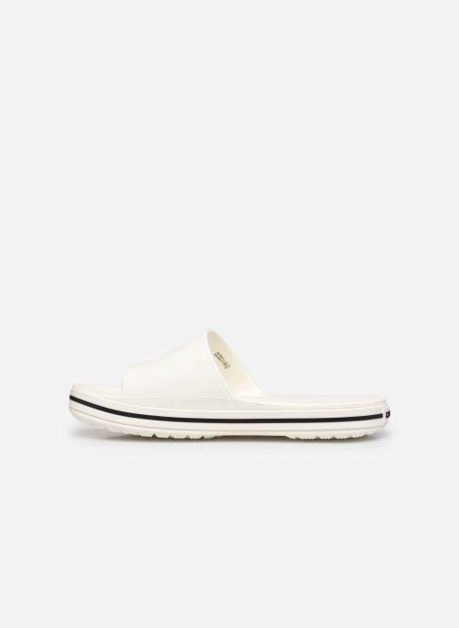 Sandalen Crocs Crocband III Slide weiß ansicht von vorne