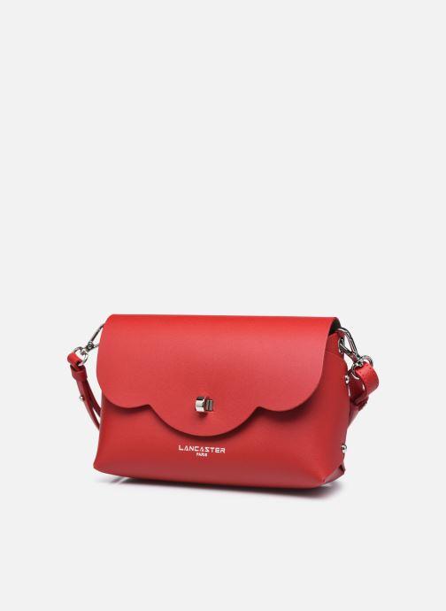 Handtaschen Lancaster Trotteur City Flore rot schuhe getragen