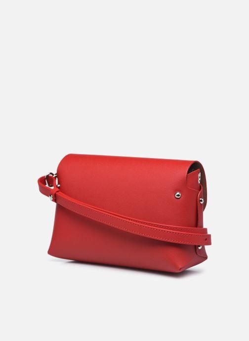 Handtaschen Lancaster Trotteur City Flore rot ansicht von rechts