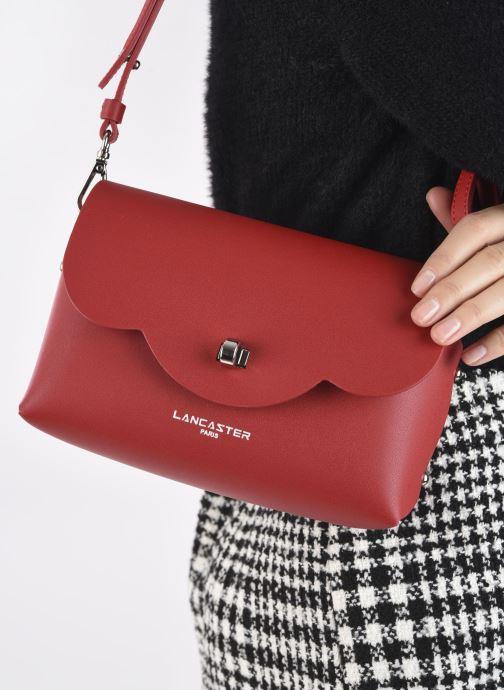 Handtaschen Lancaster Trotteur City Flore rot ansicht von unten / tasche getragen