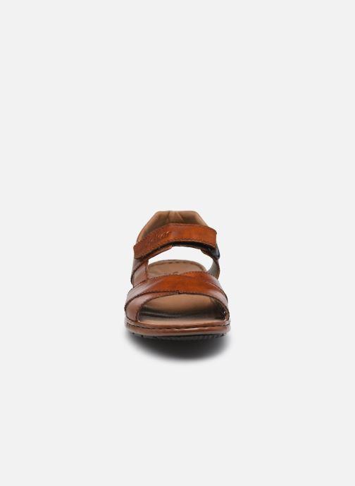 Sandalen Rieker Claude braun schuhe getragen