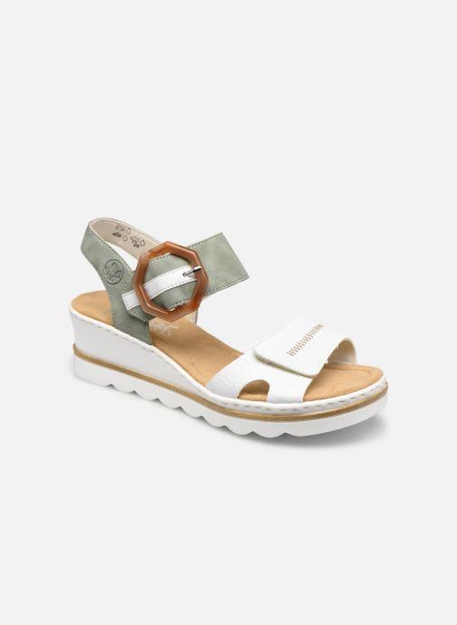 Sandales et nu-pieds Rieker Rym Argent vue détail/paire