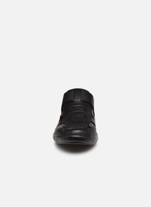 Sandalen Rieker Alberto schwarz schuhe getragen