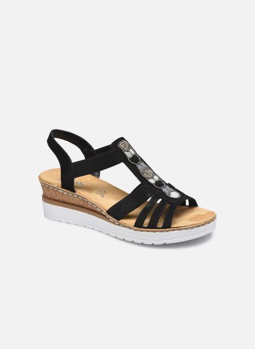 Sandales et nu-pieds Rieker Marseillan Noir vue détail/paire