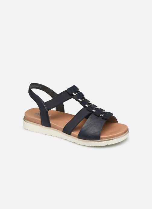 Sandales et nu-pieds Rieker Rio Noir vue détail/paire