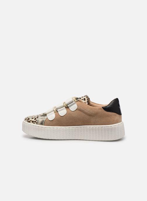 Sneakers Vanessa Wu BK2206 Beige se forfra