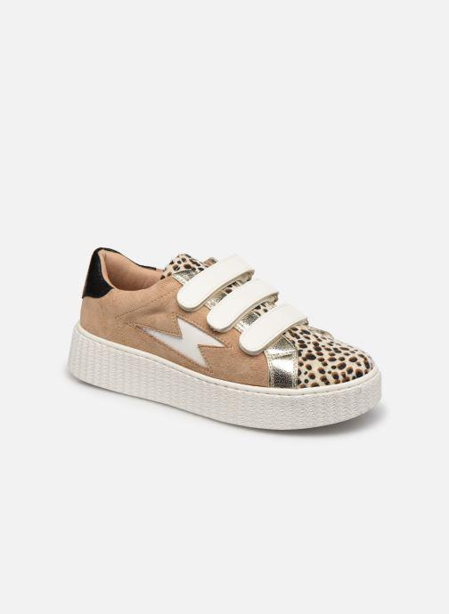 Sneakers Vanessa Wu BK2206 Beige detaljeret billede af skoene