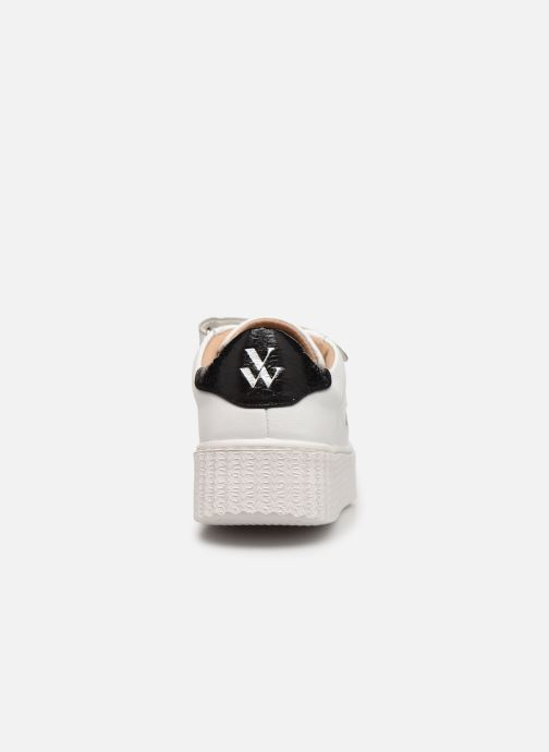 Baskets Vanessa Wu BK2231 Blanc vue droite