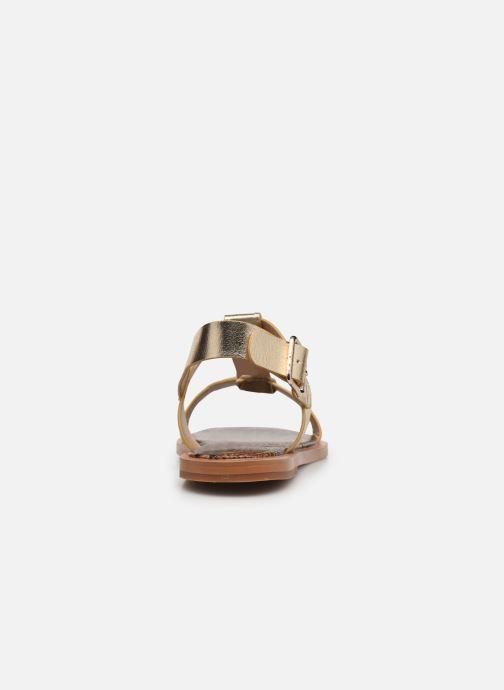 Sandali e scarpe aperte Vanessa Wu SD2235 Oro e bronzo immagine destra