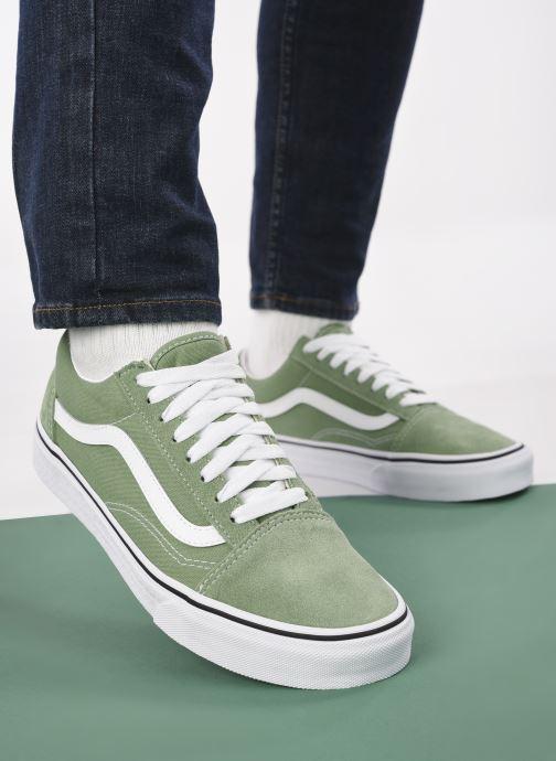 Sneaker Vans UA Old Skool M grün ansicht von unten / tasche getragen