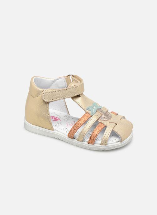 Sandales et nu-pieds Bopy Relisa Or et bronze vue détail/paire