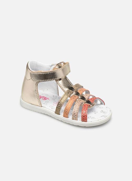 Sandales et nu-pieds Bopy Reality Or et bronze vue détail/paire
