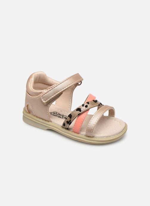 Sandales et nu-pieds Bopy Gloufi Kouki Or et bronze vue détail/paire