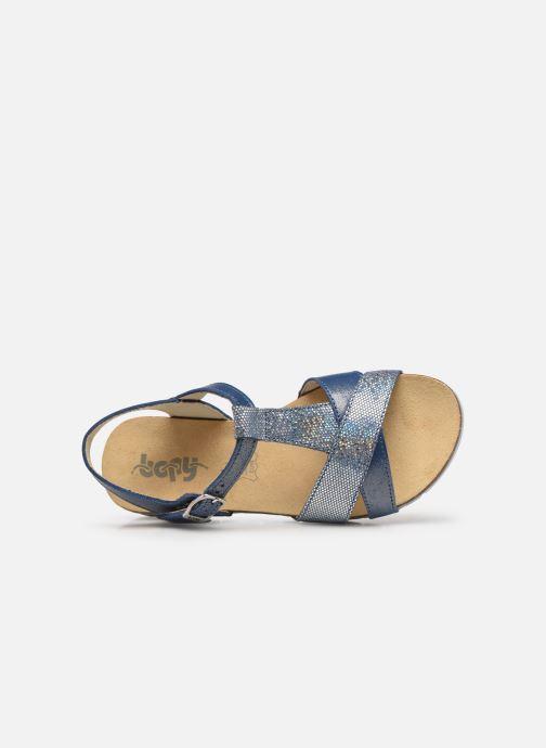 Sandalen Bopy Ebrico blau ansicht von links