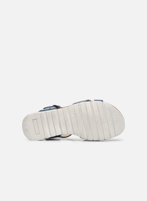 Sandalen Bopy Ebrico blau ansicht von oben