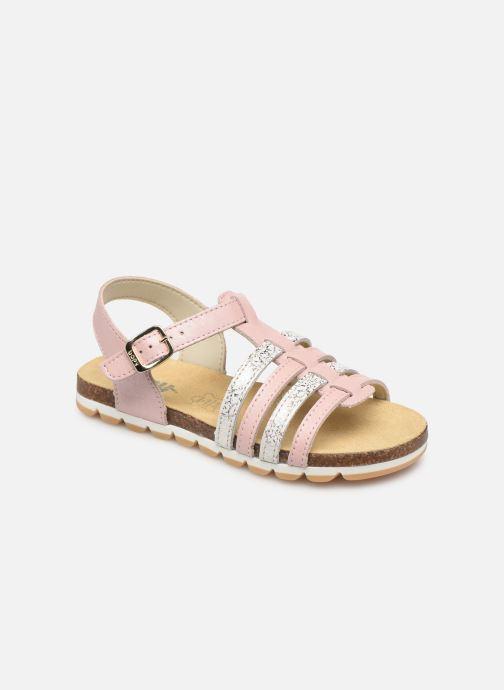 Sandales et nu-pieds Bopy Emeraude Rose vue détail/paire