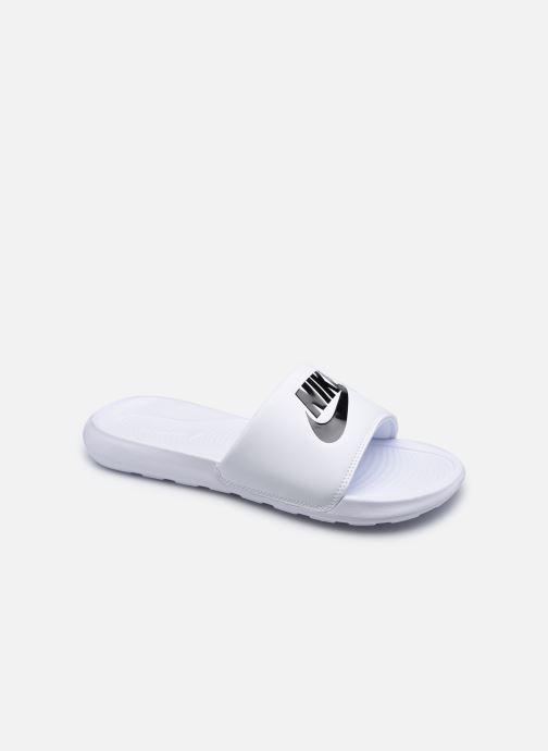 Sandales et nu-pieds Nike Nike Victori One Slide Blanc vue détail/paire