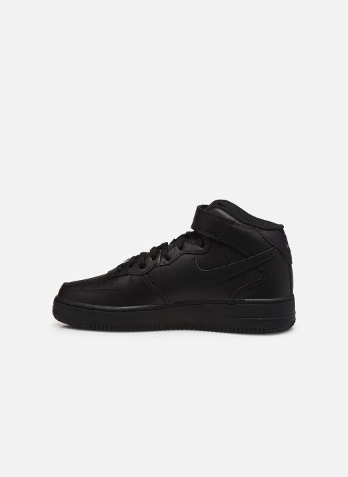 Sneaker Nike Air Force 1 Mid '07 schwarz ansicht von vorne