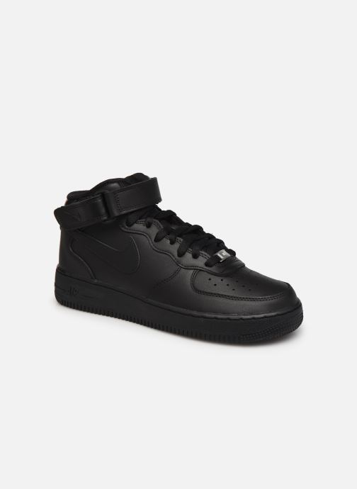 Sneaker Nike Air Force 1 Mid '07 schwarz detaillierte ansicht/modell