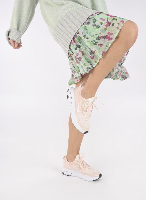 Sneaker Nike W Nike React Art3Mis rosa ansicht von unten / tasche getragen