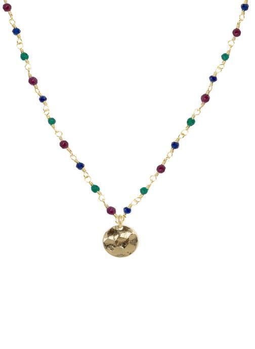 Divers Nilaï Collier Mini Stones Multicolore vue détail/paire