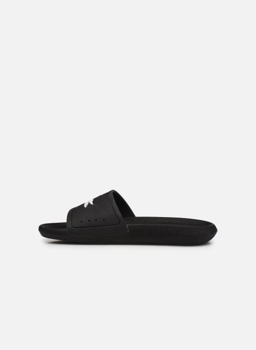 Sandales et nu-pieds Lacoste Croco Slide 119 1 Cma M Noir vue face