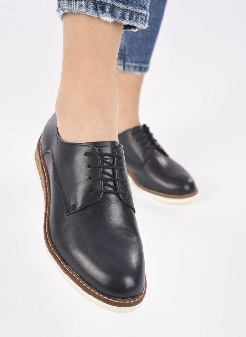 Chaussures à lacets Tamaris Polly Bleu vue bas / vue portée sac