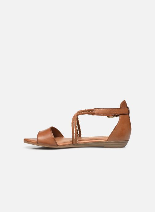 Sandales et nu-pieds Tamaris Treia Marron vue face