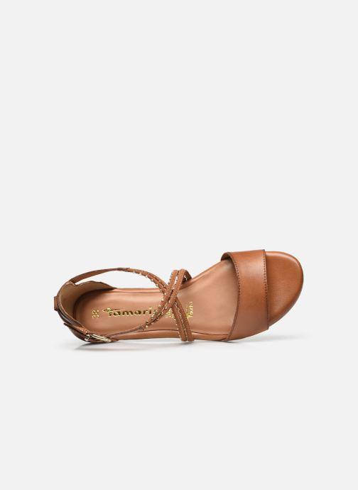 Sandales et nu-pieds Tamaris Treia Marron vue gauche