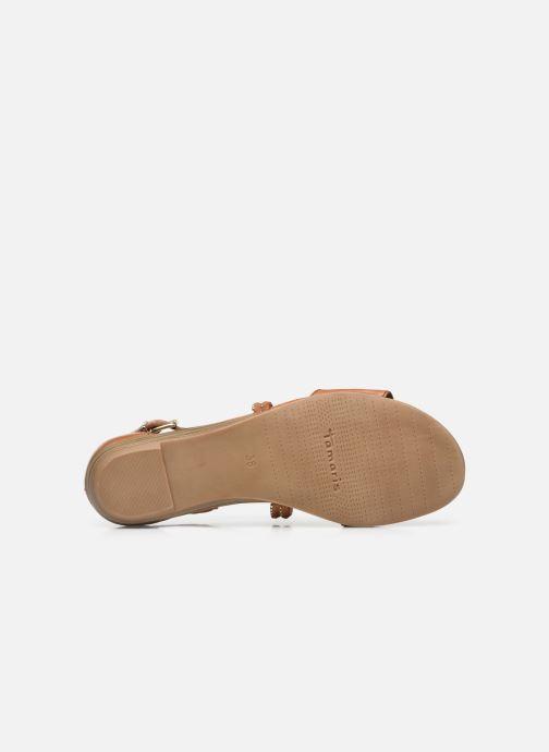 Sandales et nu-pieds Tamaris Treia Marron vue haut