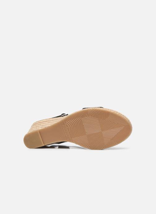 Sandales et nu-pieds Tamaris Norcia Noir vue haut