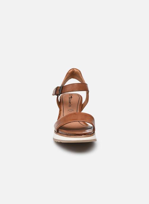Sandales et nu-pieds Tamaris Tellaro Marron vue portées chaussures