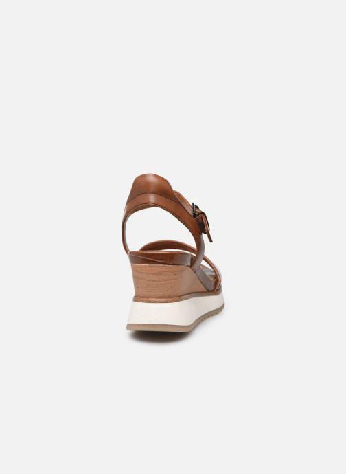 Sandales et nu-pieds Tamaris Tellaro Marron vue droite