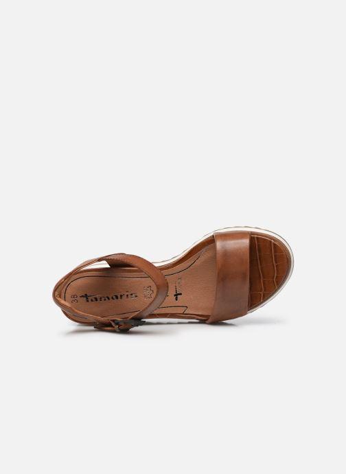 Sandales et nu-pieds Tamaris Tellaro Marron vue gauche