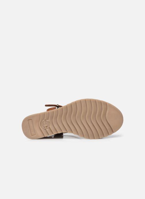 Sandales et nu-pieds Tamaris Tellaro Marron vue haut