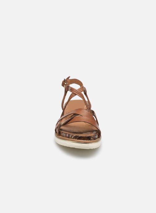 Sandalen Tamaris Gradara braun schuhe getragen