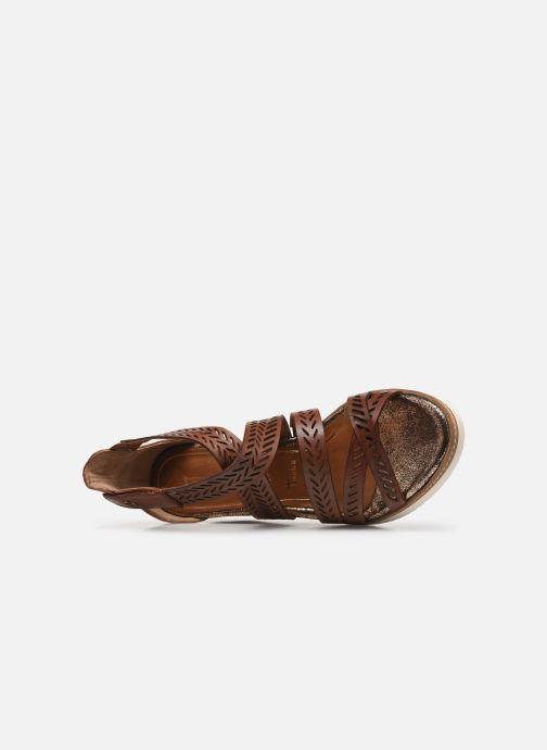 Sandales et nu-pieds Tamaris Dolcea Marron vue gauche