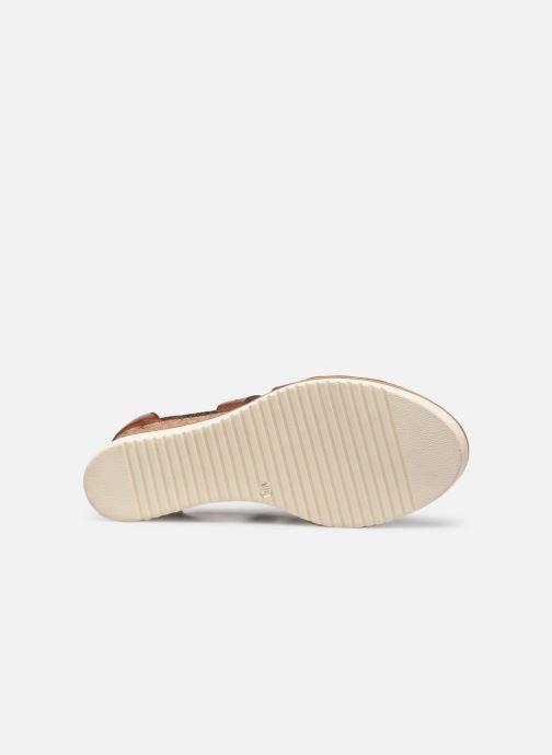 Sandales et nu-pieds Tamaris Dolcea Marron vue haut