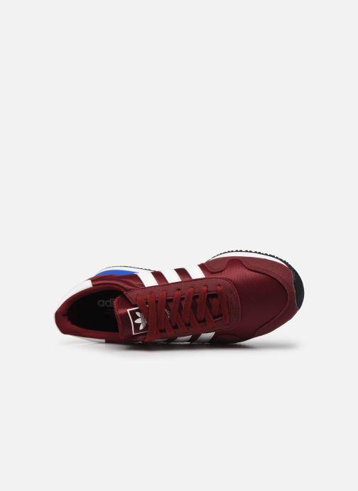 Sneaker adidas originals USA 84 M weinrot ansicht von links