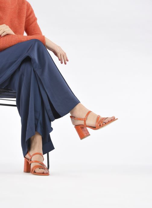 Sandalen Made by SARENZA Minimal Summer Sandales à Talons #1 orange ansicht von unten / tasche getragen