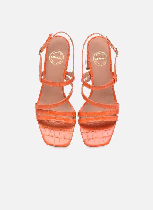 Sandalen Made by SARENZA Minimal Summer Sandales à Talons #1 orange schuhe getragen