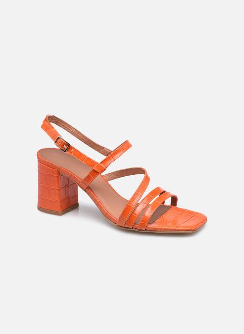 Sandalen Made by SARENZA Minimal Summer Sandales à Talons #1 orange ansicht von rechts