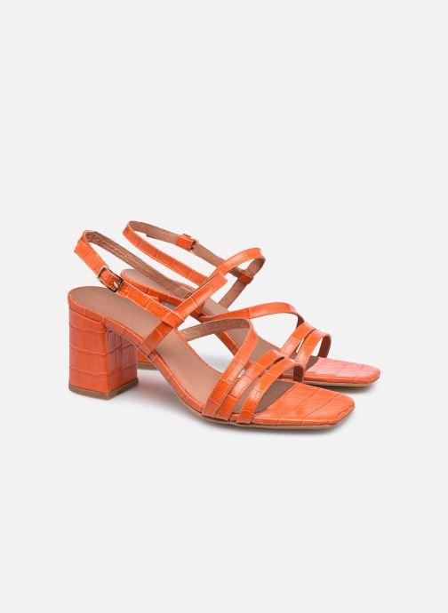 Sandalen Made by SARENZA Minimal Summer Sandales à Talons #1 orange ansicht von hinten
