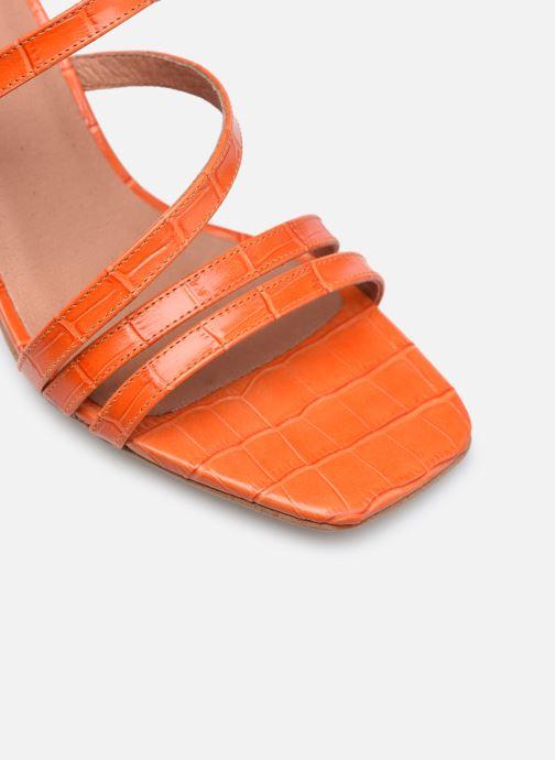 Sandalen Made by SARENZA Minimal Summer Sandales à Talons #1 orange ansicht von links