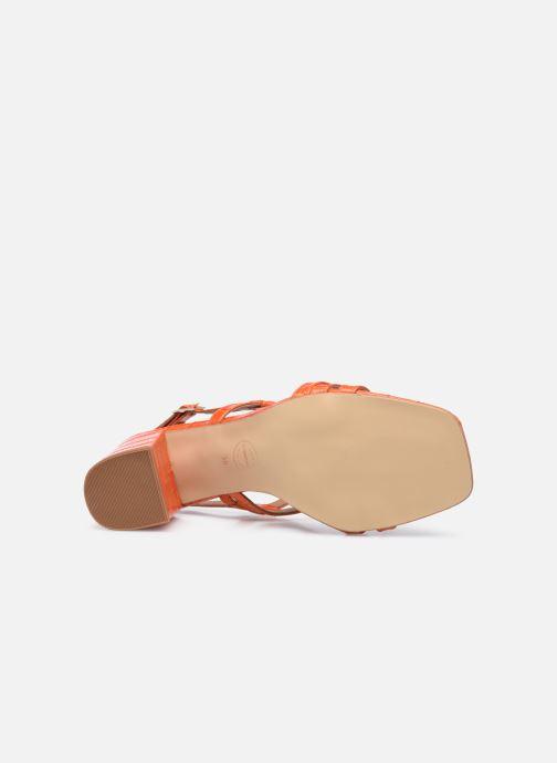 Sandalen Made by SARENZA Minimal Summer Sandales à Talons #1 orange ansicht von oben
