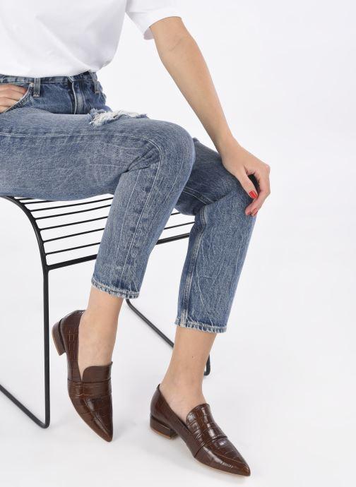 Slipper Made by SARENZA Minimal Summer Mocassins #1 braun ansicht von unten / tasche getragen